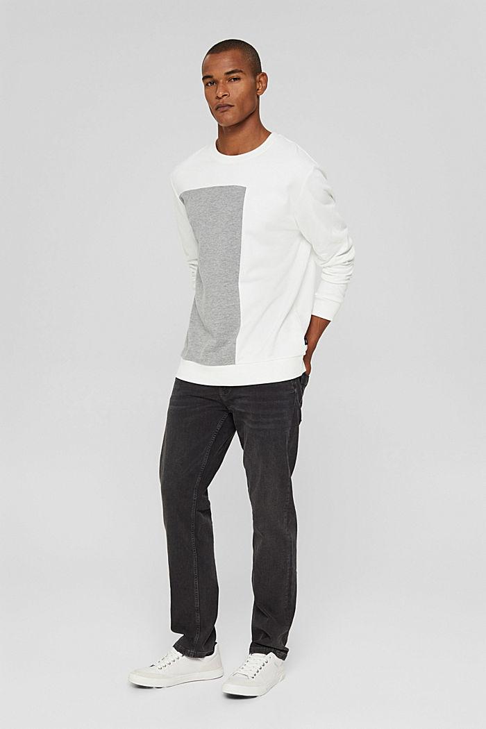 Blended cotton sweatshirt, OFF WHITE, detail image number 1