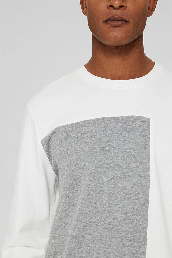 Blended cotton sweatshirt, OFF WHITE, detail image number 2