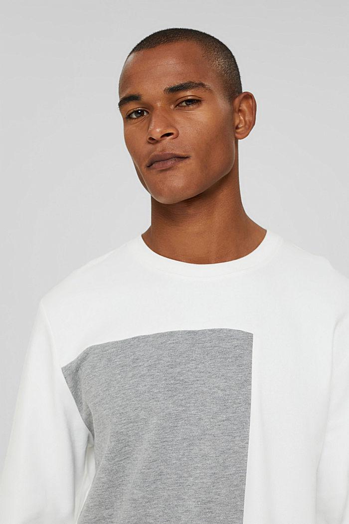 Blended cotton sweatshirt, OFF WHITE, detail image number 5