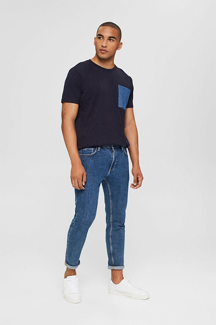 Jersey T-shirt van organic cotton, NAVY, detail image number 2
