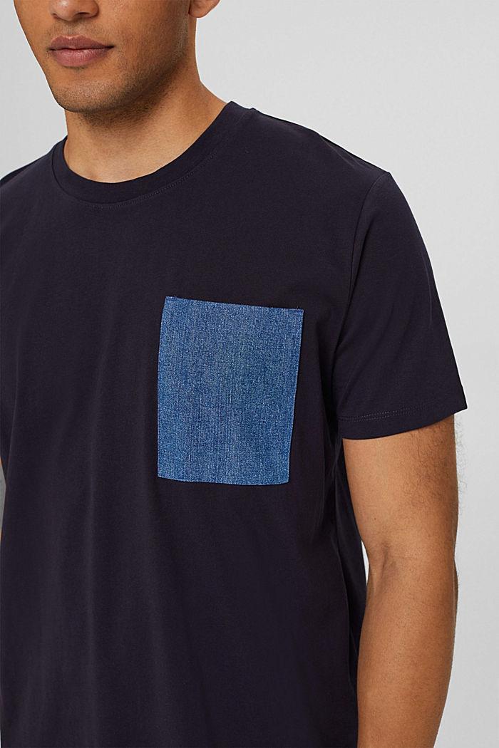 Jersey T-shirt van organic cotton, NAVY, detail image number 1