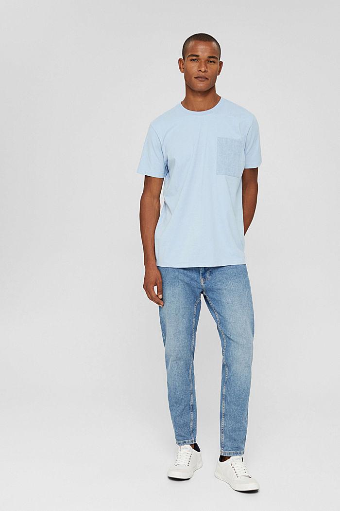 Jersey T-shirt made of organic cotton, LIGHT BLUE, detail image number 2