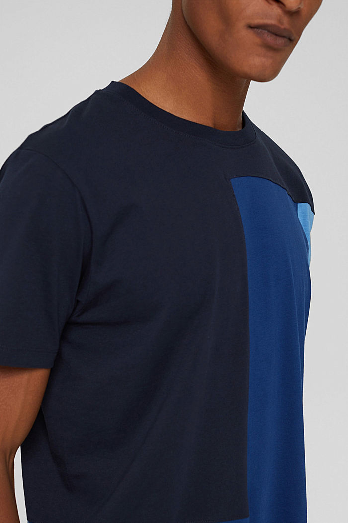 Jersey-T-Shirt, 100% Organic Cotton, NAVY, detail image number 1
