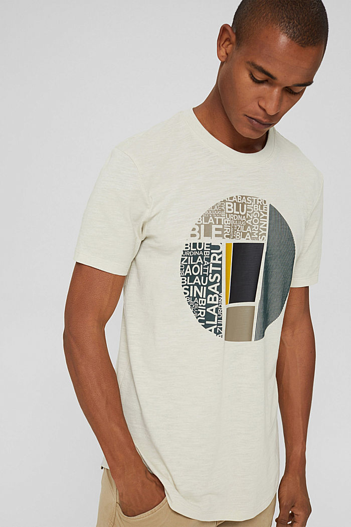 Recycled: jersey T-shirt with a print, OFF WHITE, detail image number 0