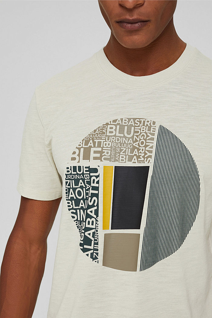 Recycled: jersey T-shirt with a print, OFF WHITE, detail image number 1