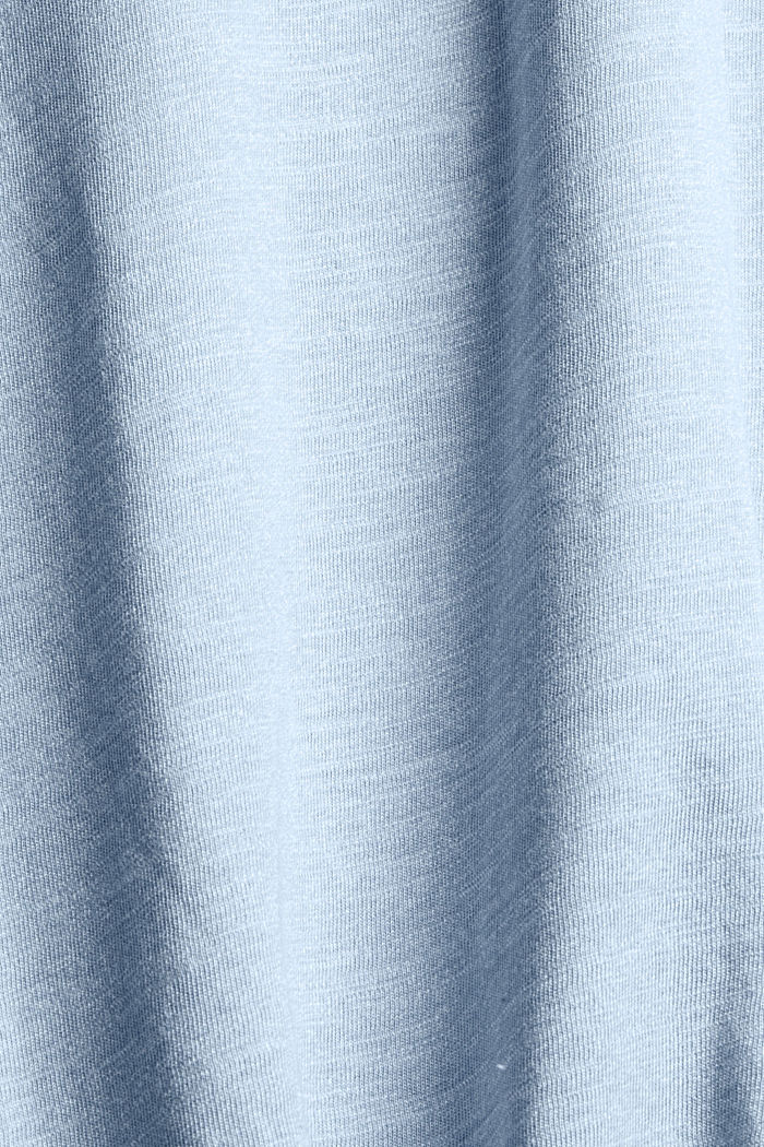 Gerecycled: jersey T-shirt met print, BLUE, detail image number 4