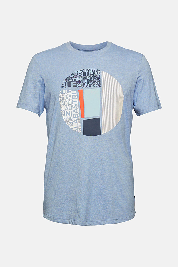Gerecycled: jersey T-shirt met print, BLUE, detail image number 6