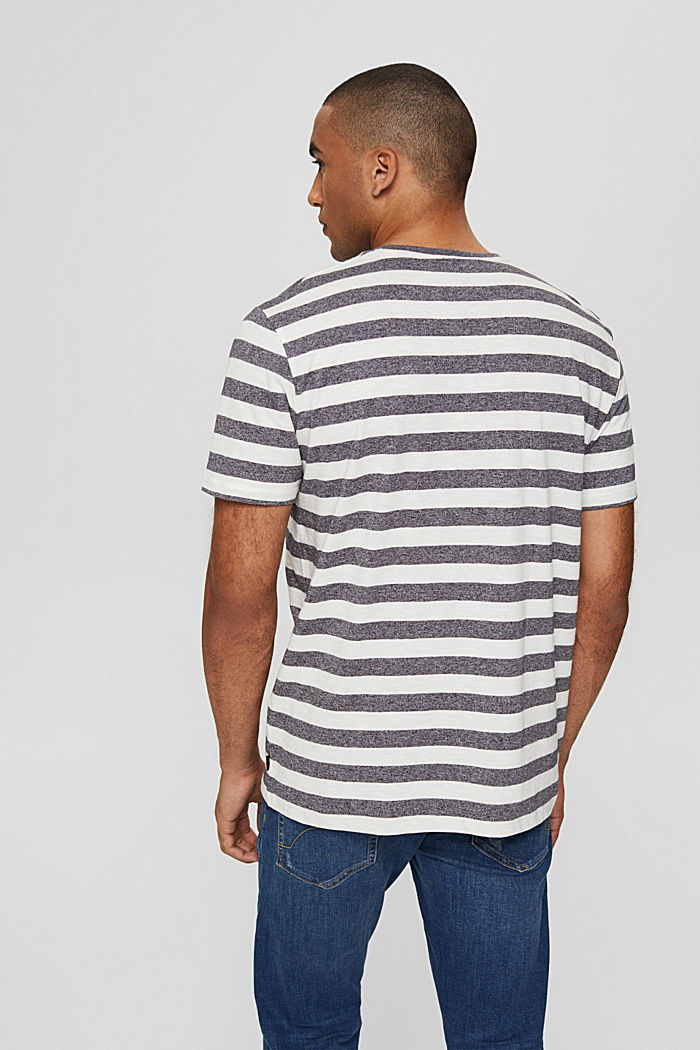 Jersey-T-Shirt im Streifen-Look, OFF WHITE, detail image number 3