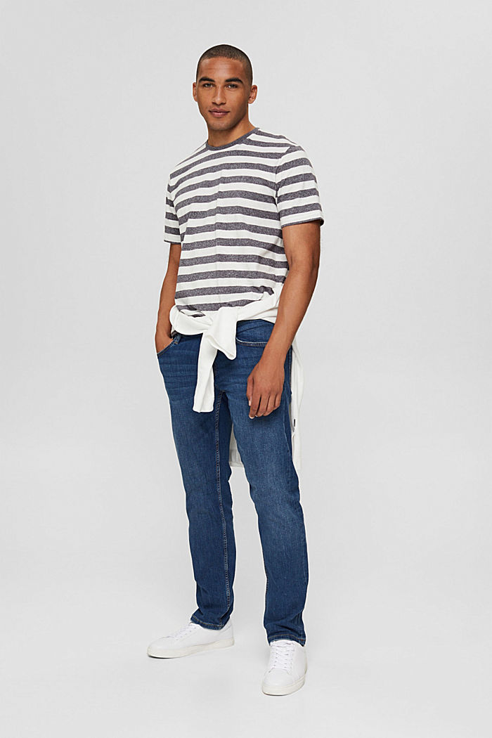 Jersey-T-Shirt im Streifen-Look, OFF WHITE, detail image number 2