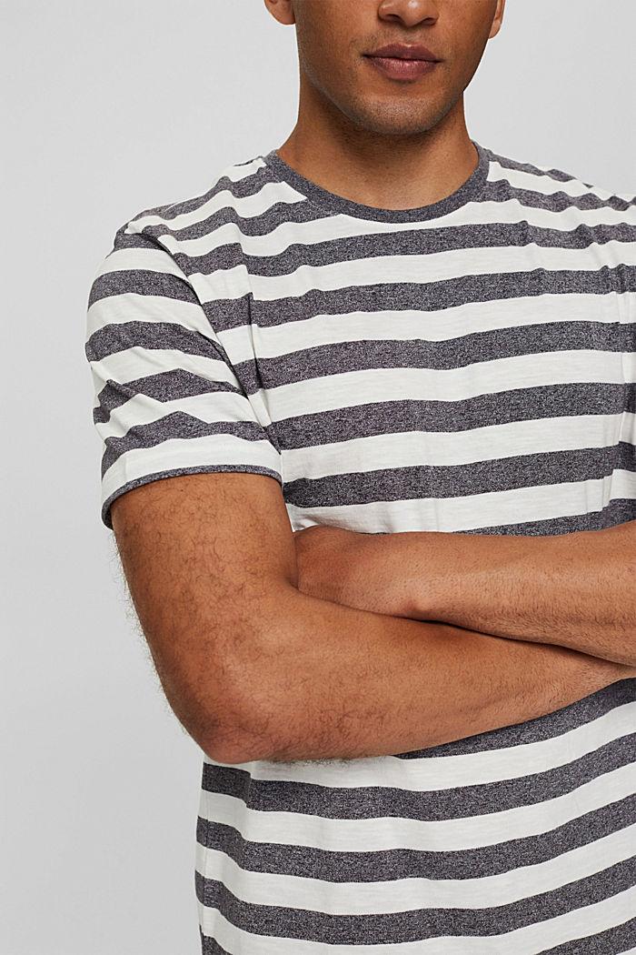 Jersey-T-Shirt im Streifen-Look, OFF WHITE, detail image number 1
