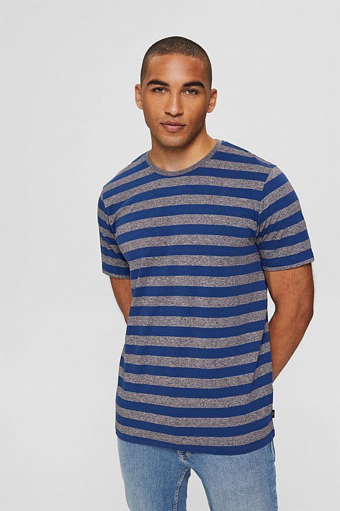 Jersey-T-Shirt im Streifen-Look, NAVY, detail image number 0