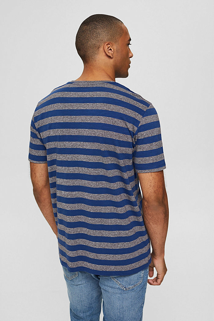 Jersey-T-Shirt im Streifen-Look, NAVY, detail image number 3
