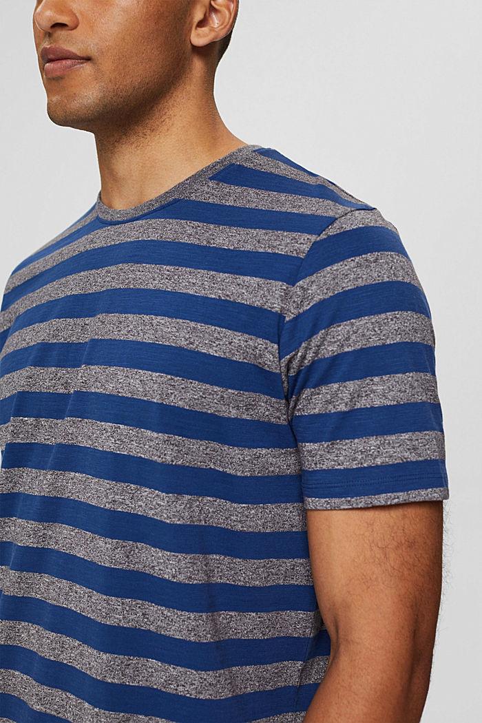 Jersey-T-Shirt im Streifen-Look, NAVY, detail image number 1