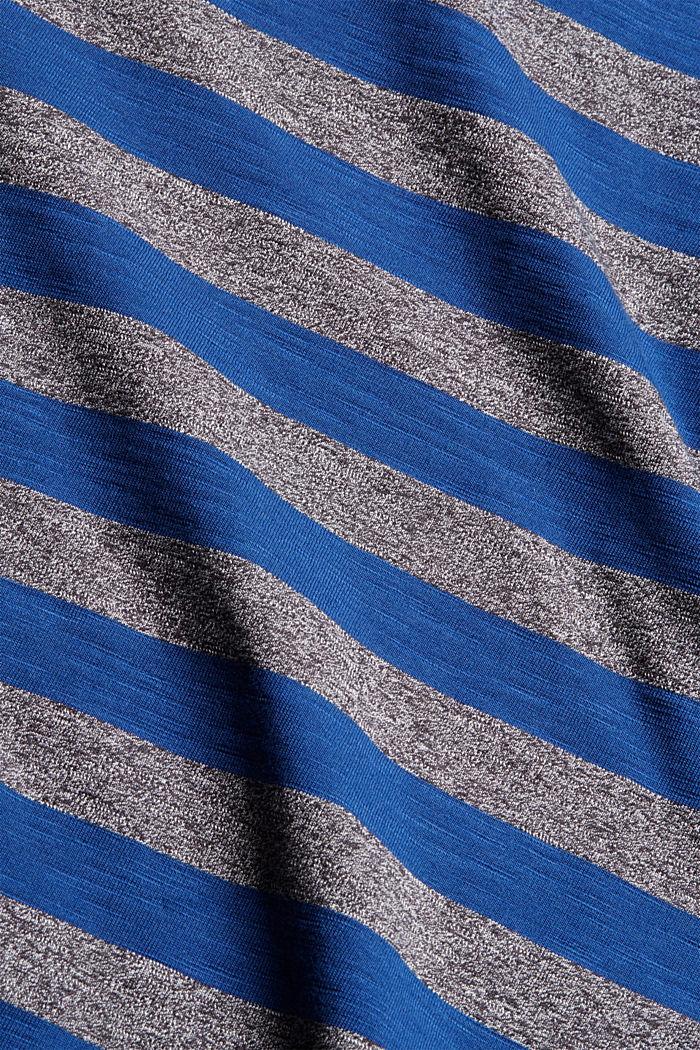 Jersey-T-Shirt im Streifen-Look, NAVY, detail image number 4