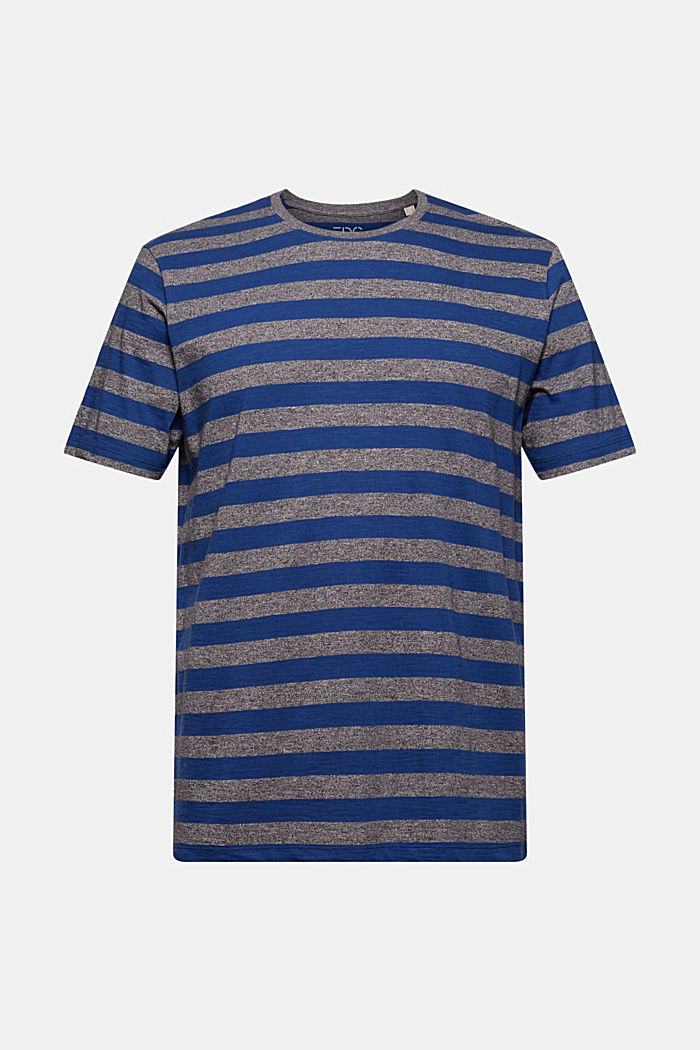 Jersey-T-Shirt im Streifen-Look, NAVY, detail image number 5