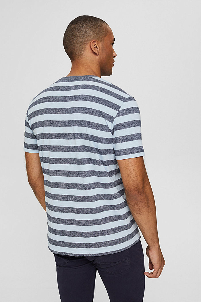 Jersey-T-Shirt im Streifen-Look, LIGHT BLUE, detail image number 3