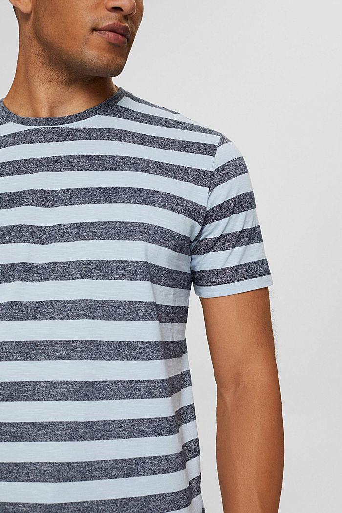 Jersey-T-Shirt im Streifen-Look, LIGHT BLUE, detail image number 1