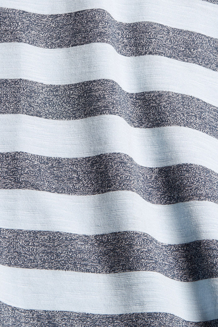 Jersey-T-Shirt im Streifen-Look, LIGHT BLUE, detail image number 5