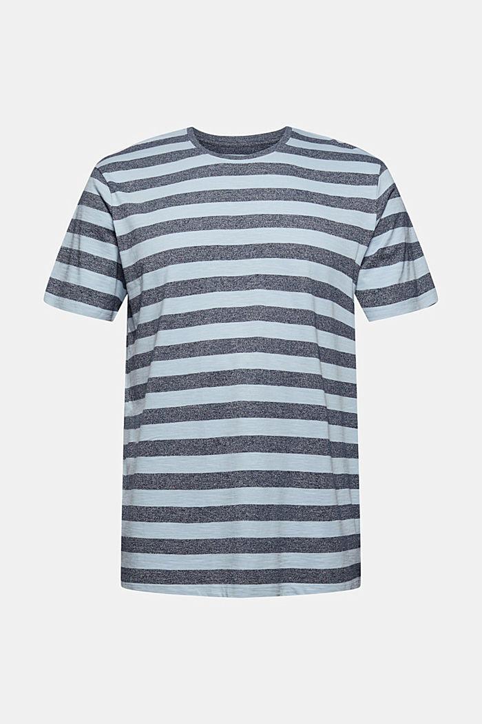 Jersey-T-Shirt im Streifen-Look, LIGHT BLUE, detail image number 6