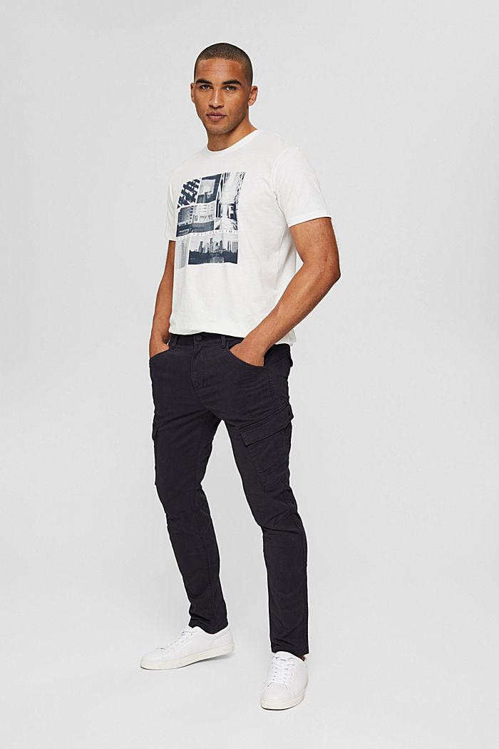 Jersey-T-Shirt mit Fotoprint, 100% Bio-Baumwolle, OFF WHITE, detail image number 2