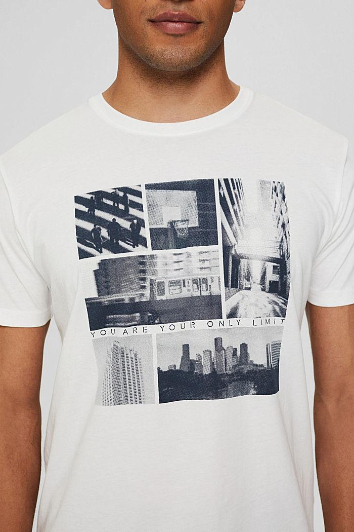 Jersey-T-Shirt mit Fotoprint, 100% Bio-Baumwolle, OFF WHITE, detail image number 1