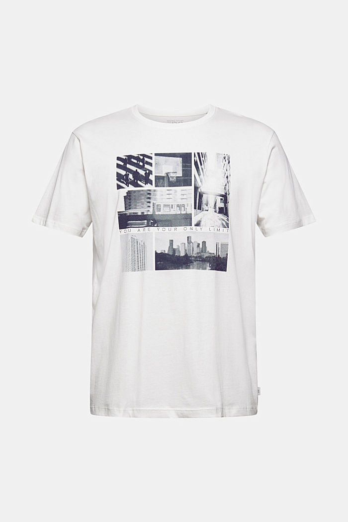 Jersey-T-Shirt mit Fotoprint, 100% Bio-Baumwolle, OFF WHITE, detail image number 5