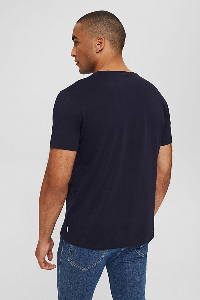 T-shirt en jersey à imprimé photo, 100% coton biologique, NAVY, detail image number 3