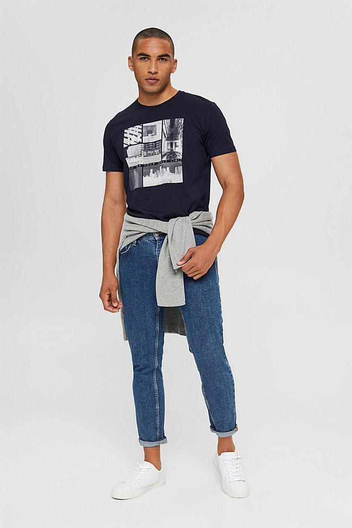 T-shirt en jersey à imprimé photo, 100% coton biologique, NAVY, detail image number 2