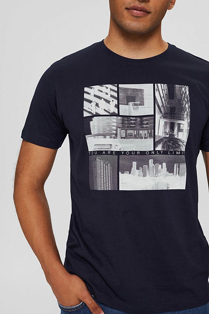T-shirt en jersey à imprimé photo, 100% coton biologique, NAVY, detail image number 1