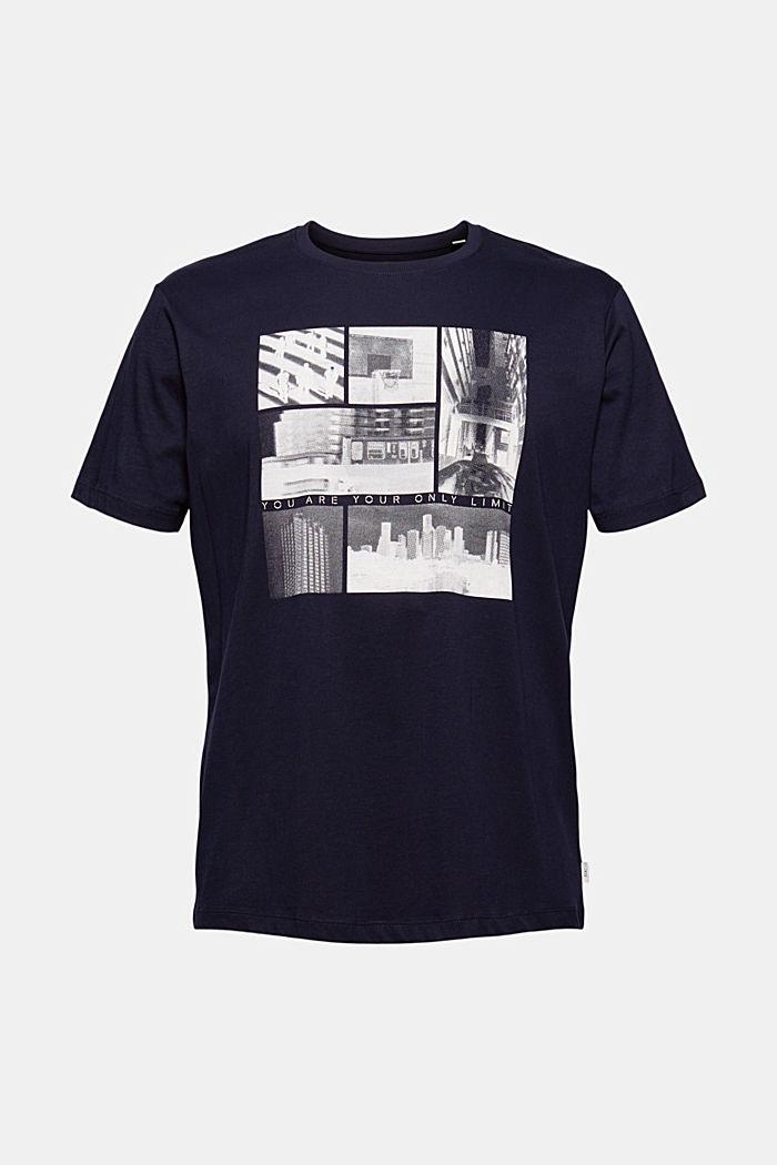 T-shirt en jersey à imprimé photo, 100% coton biologique, NAVY, detail image number 5