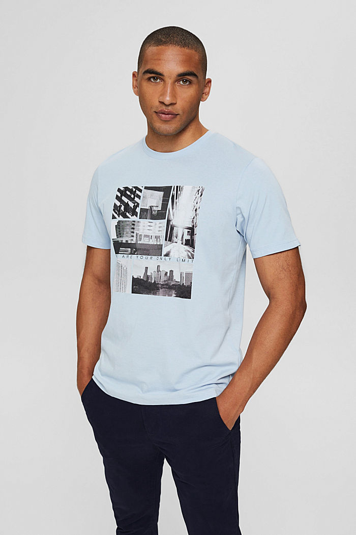 Jersey T-shirt with photo print, 100% organic cotton