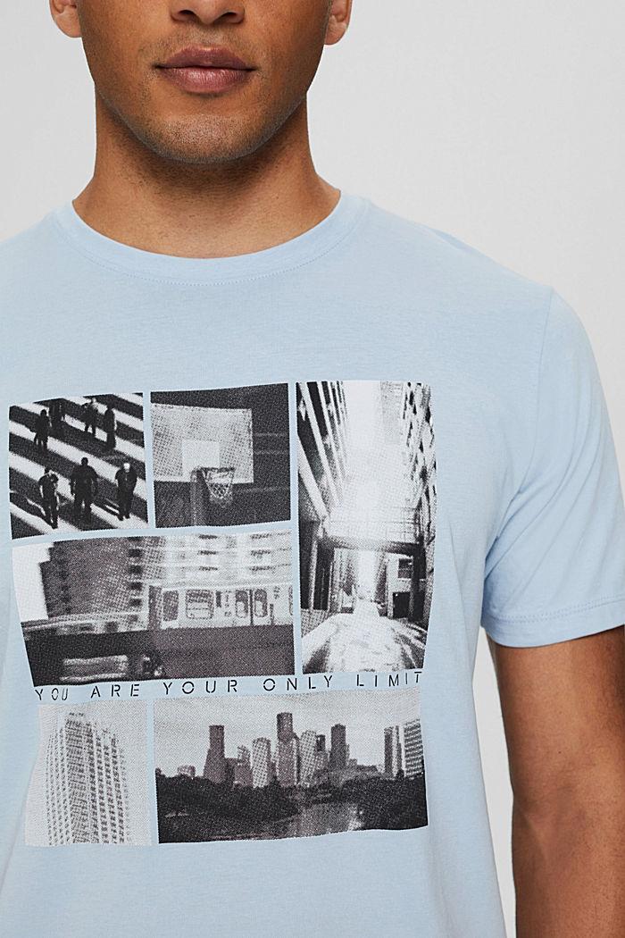 Jersey T-shirt met fotoprint, 100% biologisch katoen, LIGHT BLUE, detail image number 1