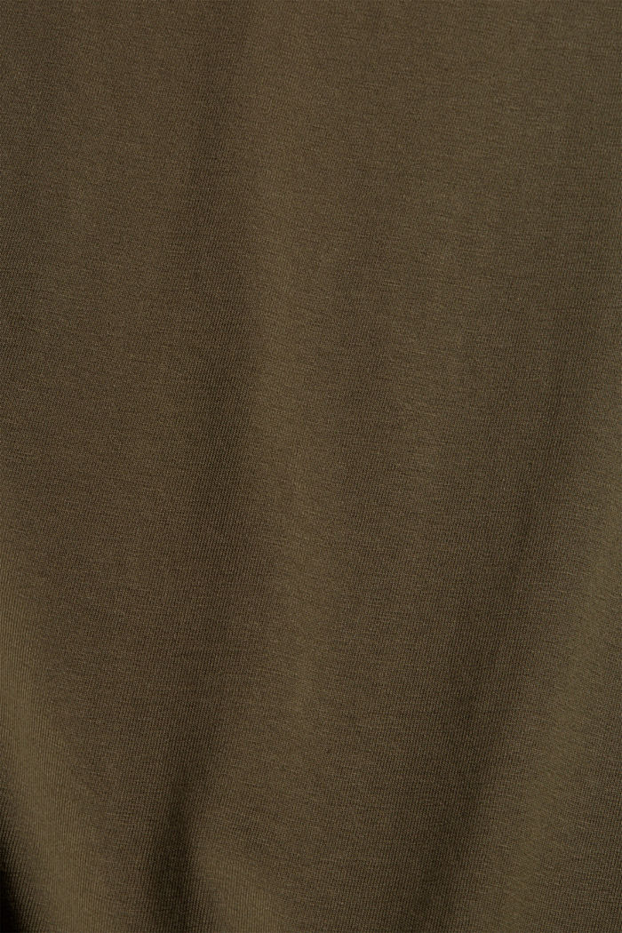 Jersey-Longsleeve aus Organic Cotton, DARK KHAKI, detail image number 4