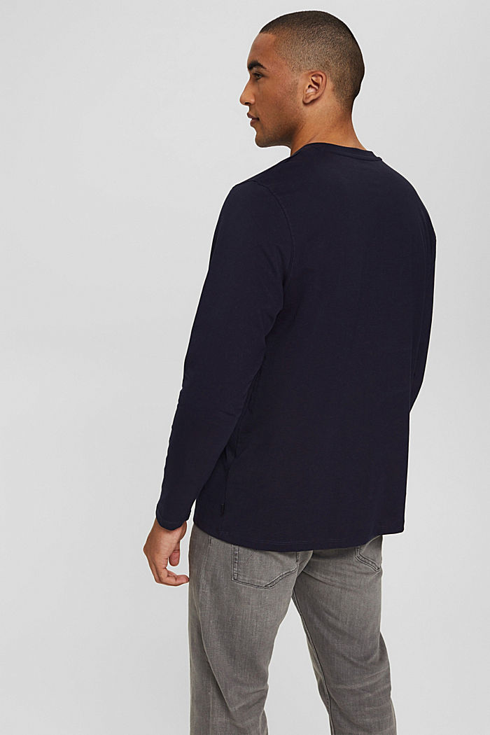Jersey-Longsleeve aus Organic Cotton, NAVY, detail image number 3