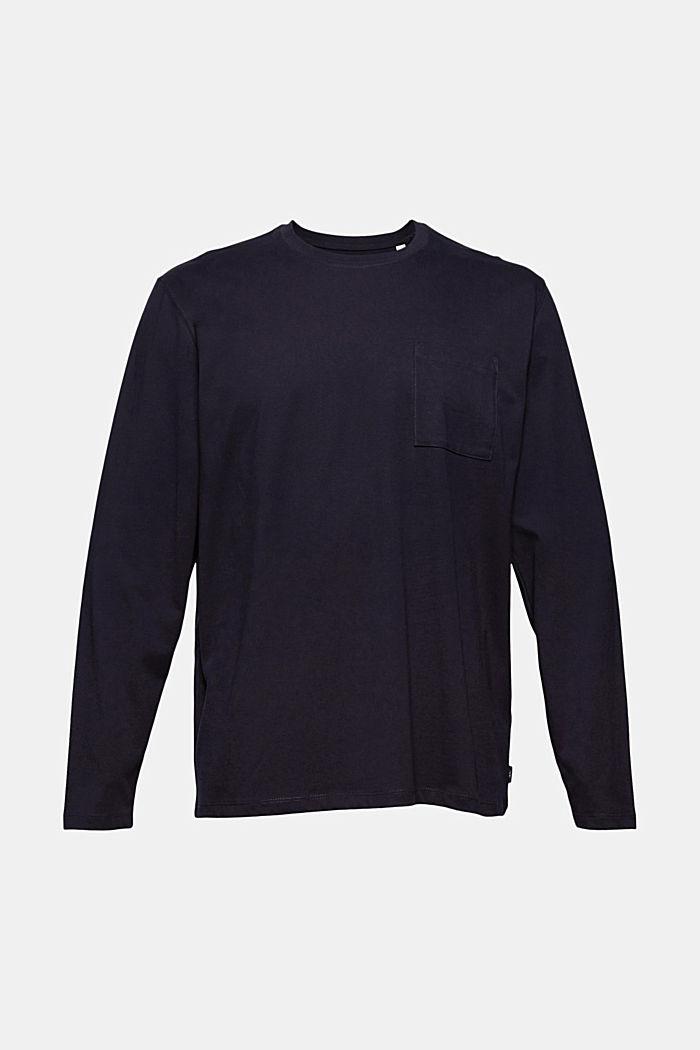 Jersey-Longsleeve aus Organic Cotton, NAVY, detail image number 5
