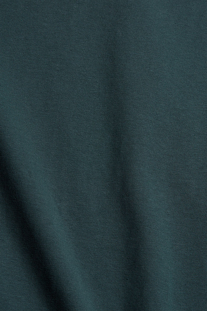 Jersey long sleeve top in organic cotton, TEAL BLUE, detail image number 4