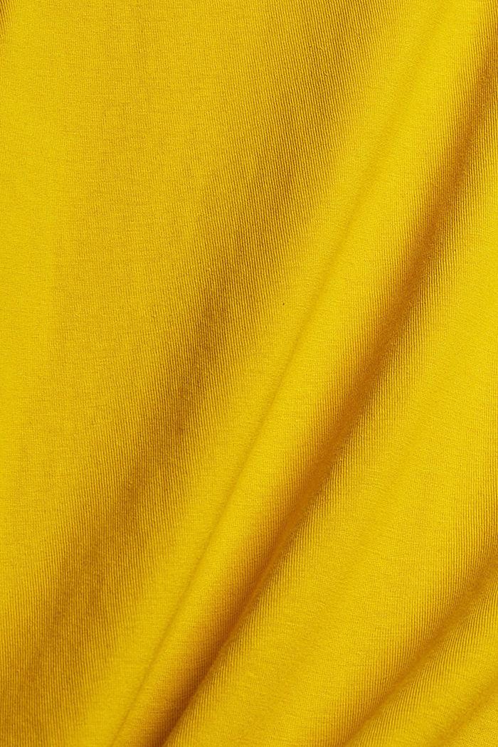 Jersey-Longsleeve aus Organic Cotton, YELLOW, detail image number 4