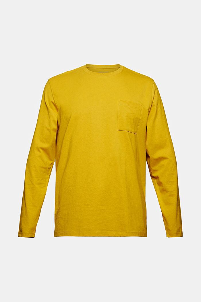Jersey-Longsleeve aus Organic Cotton, YELLOW, detail image number 6