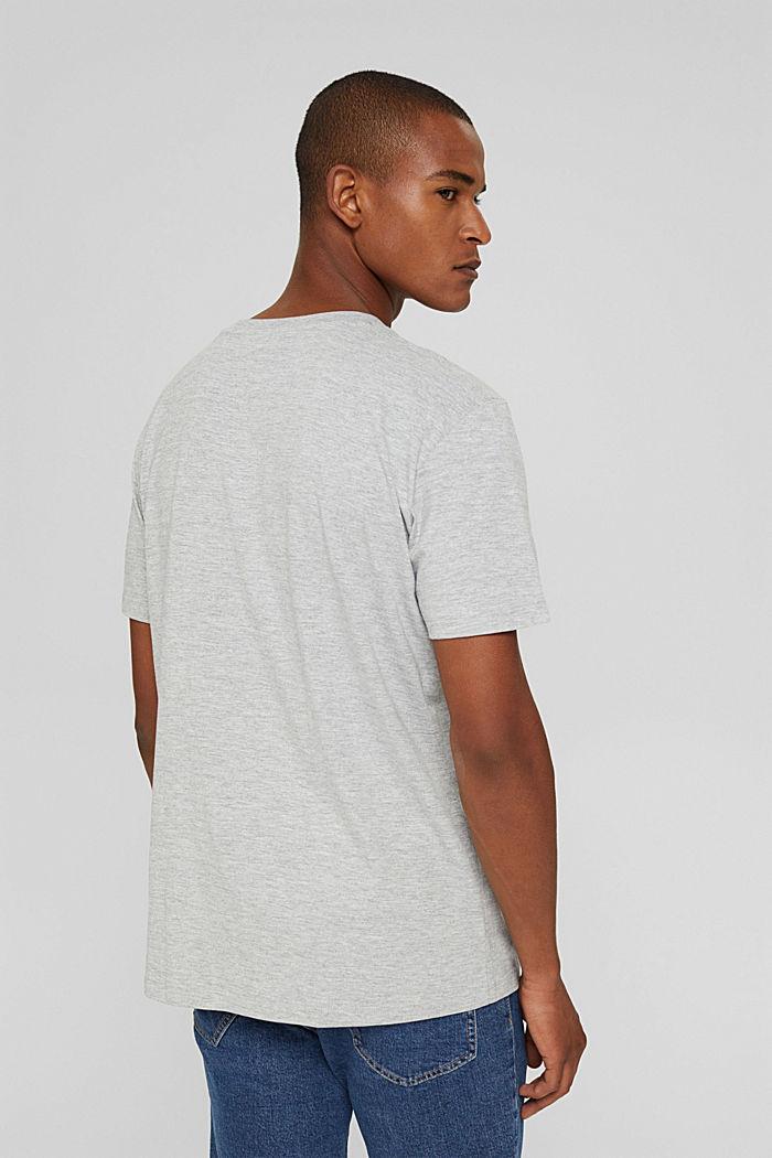 Jersey-T-Shirt aus Bio-Baumwoll-Mix, LIGHT GREY, detail image number 3