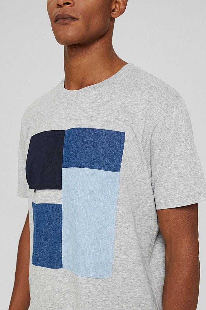 Jersey-T-Shirt aus Bio-Baumwoll-Mix, LIGHT GREY, detail image number 1