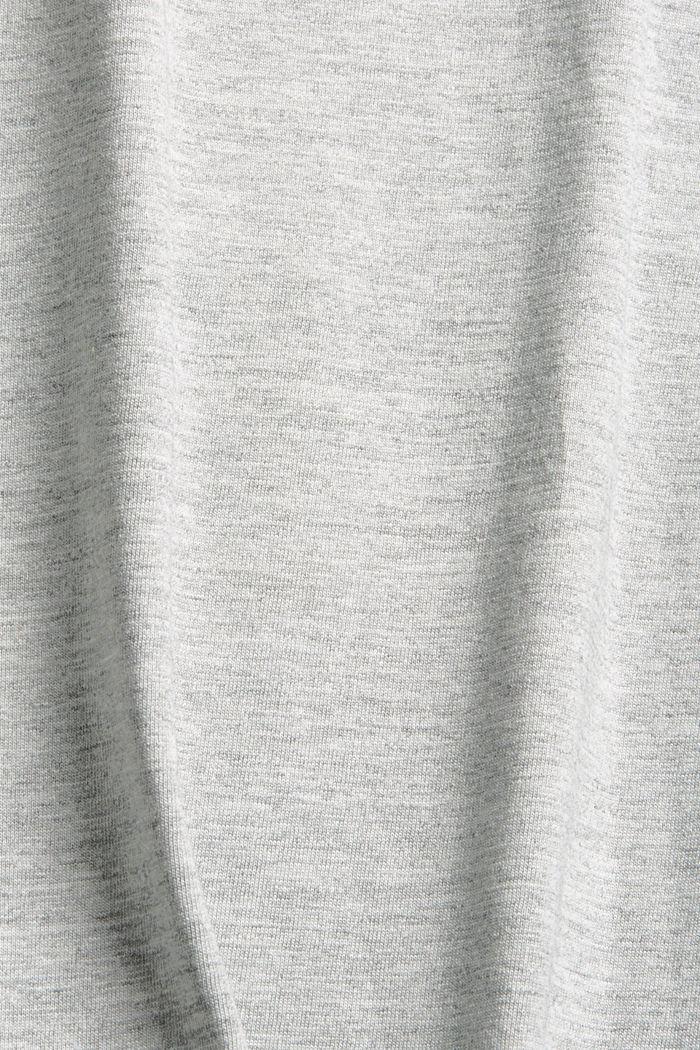 Jersey-T-Shirt aus Bio-Baumwoll-Mix, LIGHT GREY, detail image number 4