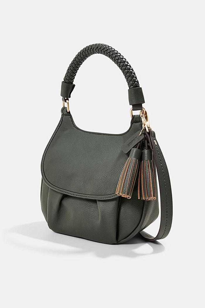 Végane: le sac bandoulière à rabat, DARK KHAKI, detail image number 2