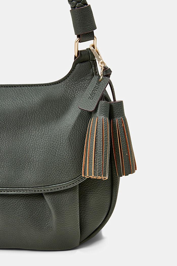 Végane: le sac bandoulière à rabat, DARK KHAKI, detail image number 3