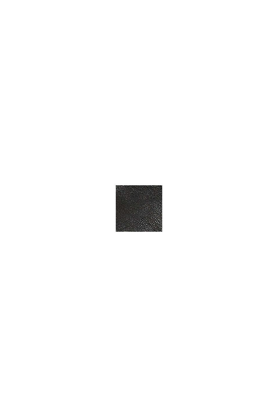 Vegansk: axelremsväska i skinnlook, BLACK, swatch