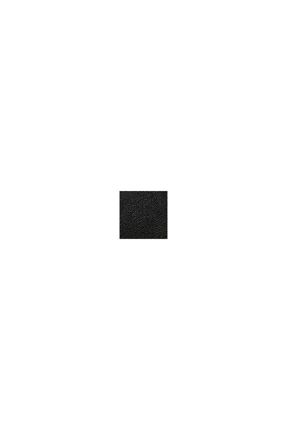 Vegansk: axelremsväska med monogram, BLACK, swatch