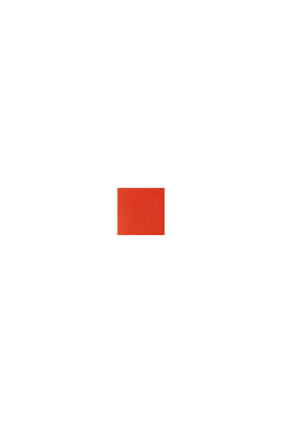 Kabelka přes rameno ve vzhledu kůže s řetízkem, ORANGE RED, swatch