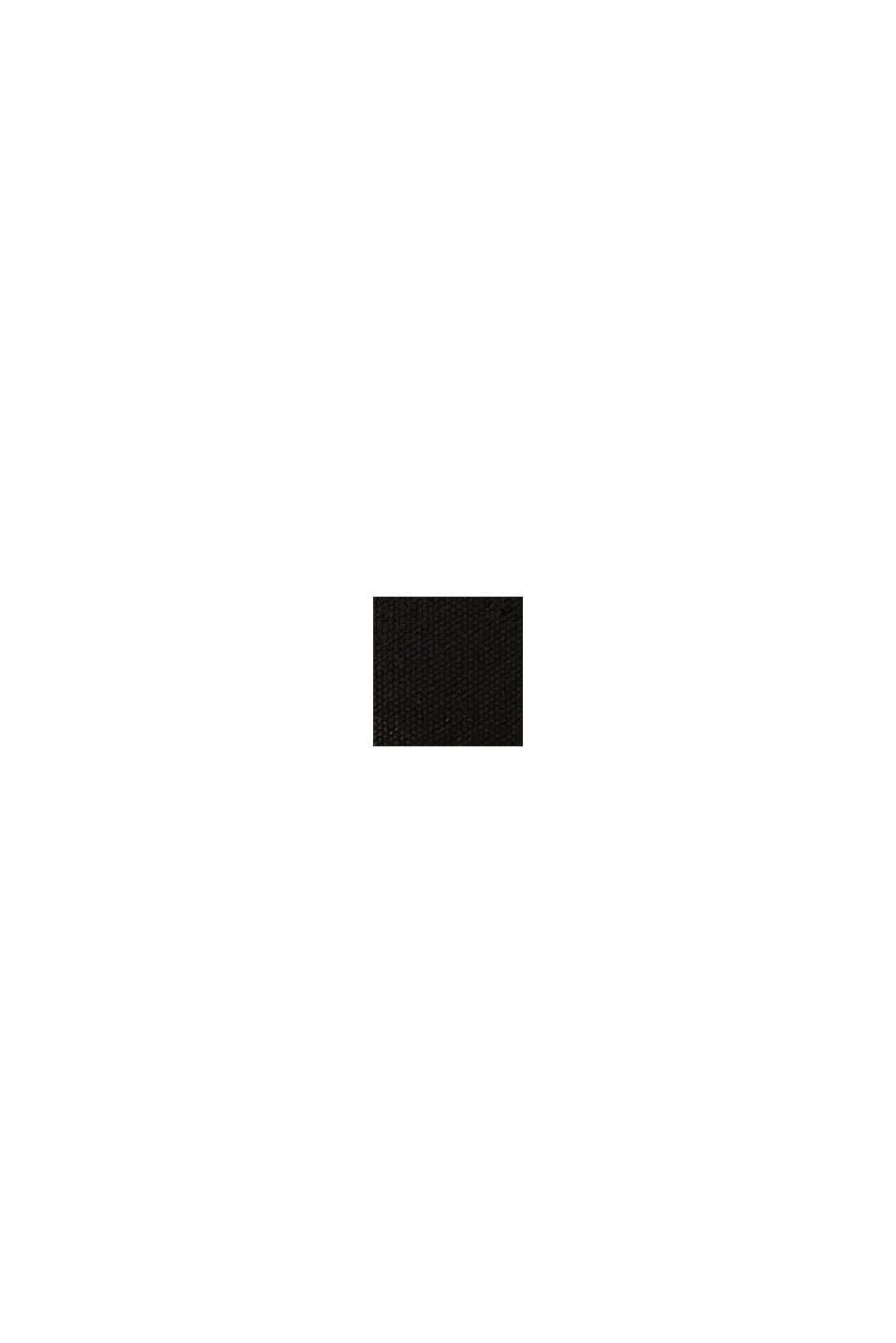 Canvas tas met geborduurd logo, BLACK, swatch