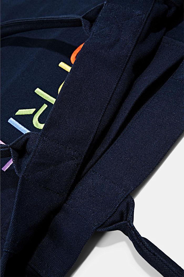 Canvas tas met geborduurd logo, NAVY, detail image number 4