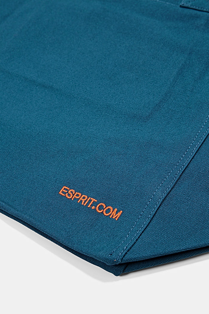 Canvas bag with logo embroidery, BRIGHT BLUE, detail image number 5