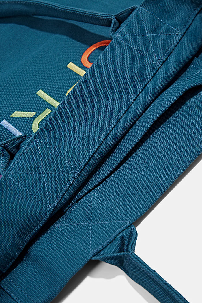 Canvas bag with logo embroidery, BRIGHT BLUE, detail image number 4